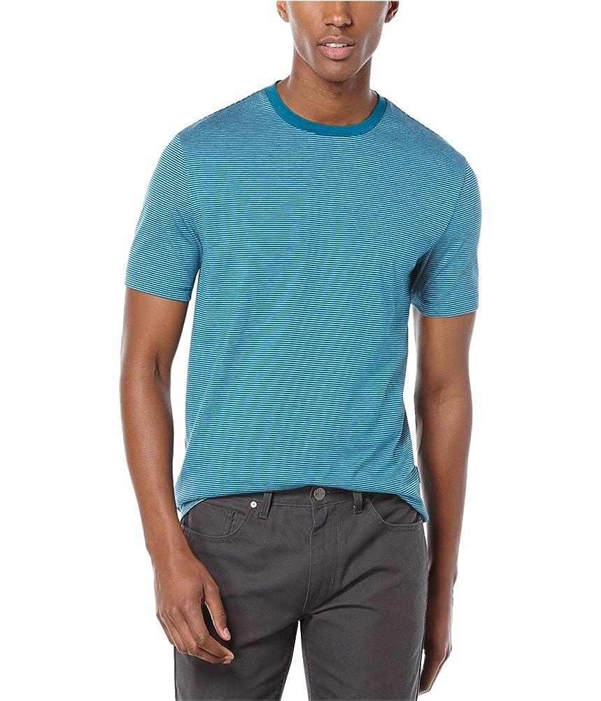 6224c0686a Perry Ellis Mens Feeder Stripe Graphic T-Shirt bluecoral 2XL ...