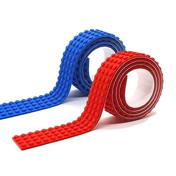 amazon com lattoge silicone building blocks tape stick baseplate