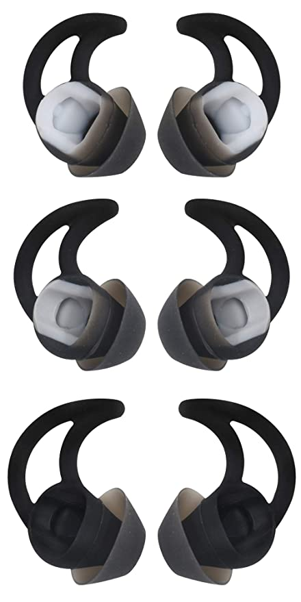 a7dd7e0fe7f Replacement Earbuds Eartips for Quietcontrol 30, Small Medium & Large Noise  Cancelling Double Flange Ear