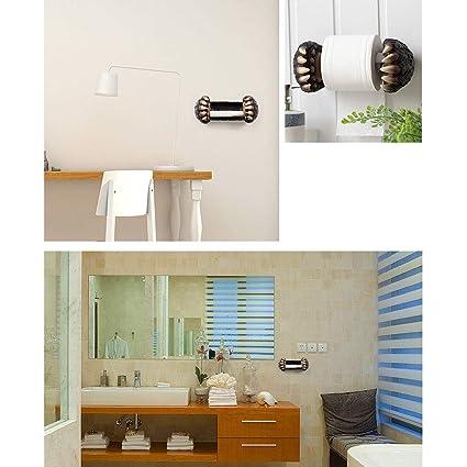 Toalla de Mano portavasos Soporte para Rollos Estante para baño Baño Inodoro, Inodoro, Papel higiénico Bandeja de Papel higiénico Tubo de Papel en Rollo ...