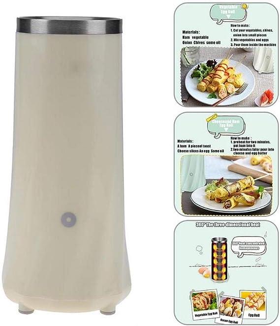 Fabricante de rollos de huevo eléctrico Omelette Mini Familia Desayuno Cocina Enfriador Herramienta Egg Master Boiled Con Eu Enchufe Máquina del hogar: Amazon.es: Hogar