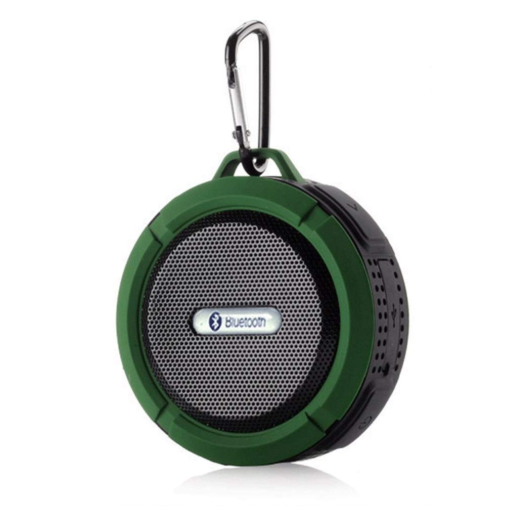 AZZ Relaxer Shower Speaker with FM Radio, 10 Hours Play Time, Built in Mic (Color : Green) by AZZ