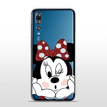71092c3350f SLIDE P20Pro TPU Funda Gel Transparente Carcasa Case Bumper de Impactos y  Anti-Arañazos Espalda Cover, Glitter Special Colección Collection, Disney  Minnie ...