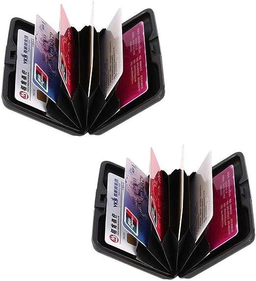 Black RFID Scan Protected Aluminium Credit Card Holder Security Wallet Bank Hard Case