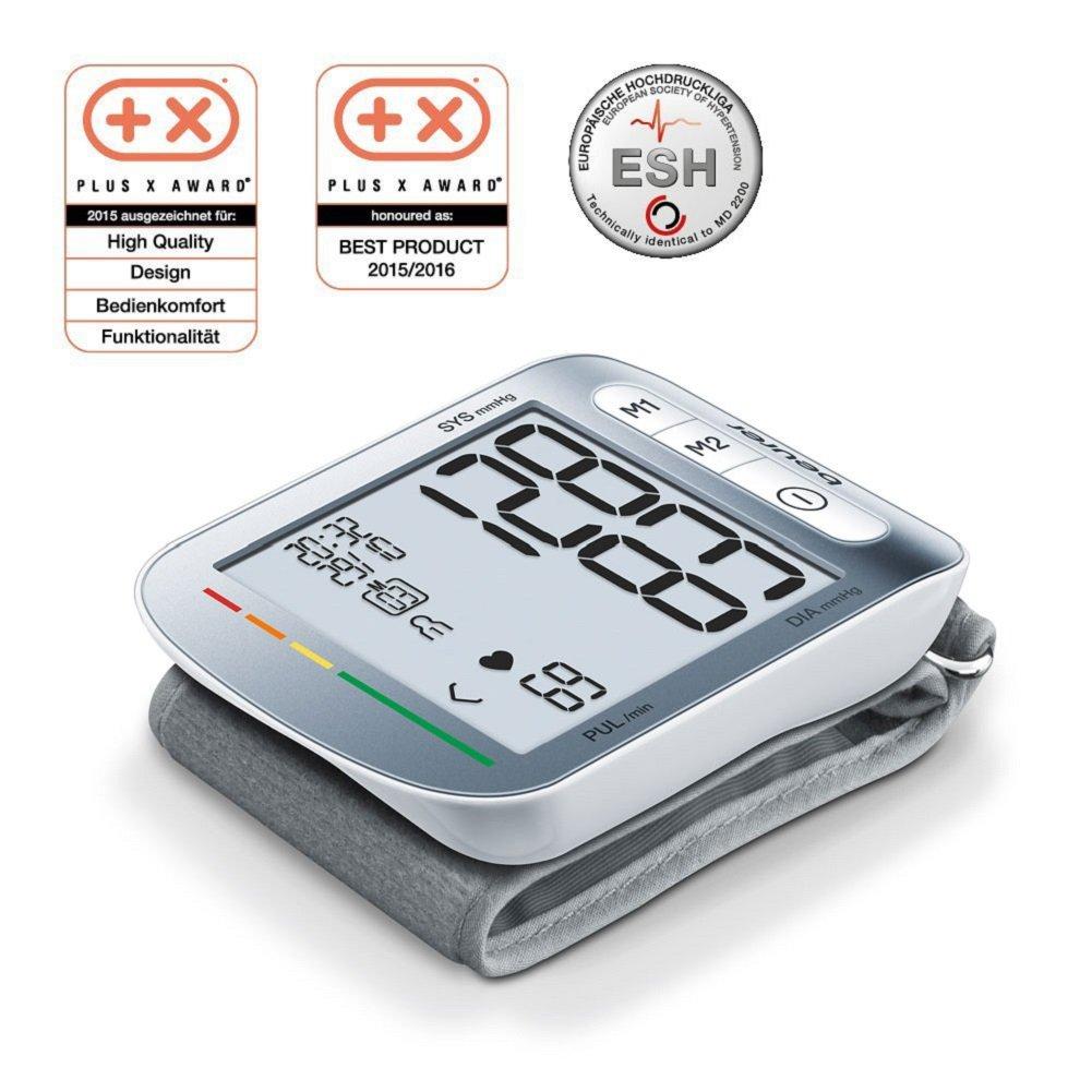 Beurer BC50 - Tensiómetro de muñeca, indicador OMS, memoria 2 x 60 mediciones: Amazon.es: Salud y cuidado personal