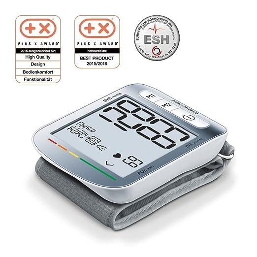 Beurer BC 50 - Tensiómetro de muñeca, indicador OMS, memoria 2 x 60 mediciones: Amazon.es: Salud y cuidado personal