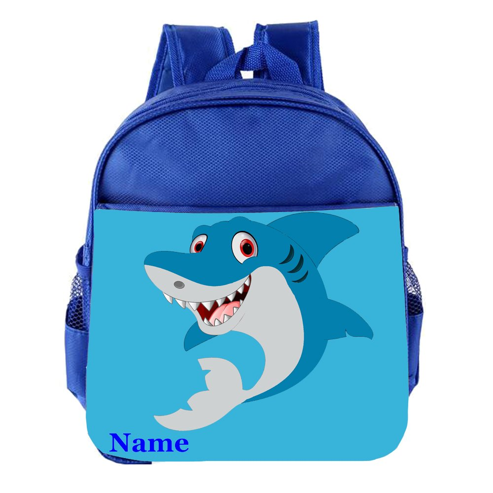 Cute Shark Personalised Customised Kids Toddlers Nursery School Bag Backpack