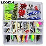 Generic Set 1 : 101PCS Fishing Lures Hooks Set with Box( Sets 2 ),35Pcs Soft Worm Lure Carp Set + 10 Lead Head Jig Hooks ( Sets 1 ) Tackle Pesca