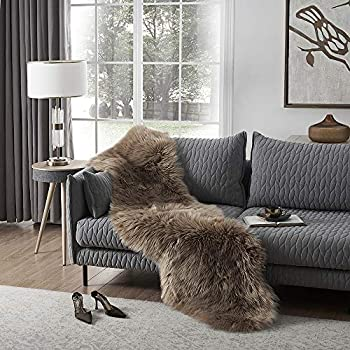 Amazon Com Ashler Soft Faux Sheepskin Fur Chair Couch