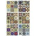 "Art3d Talavera Tile Mexican Tiles Spanish Mediterranean Decor 12""x12"" (6 Tiles)"