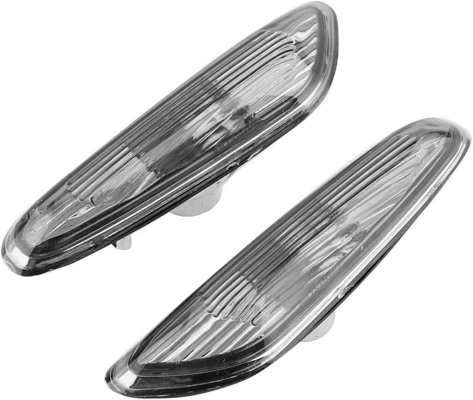 2pcs Side Marker Turn Signal Lights No Bulb Car Side Lamp for E90 E91 E92 E93 3 Series 2006-2011 Turn Signal Light Gray