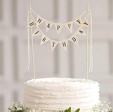 Decoración para tarta de cumpleaños con diseño de bandera de ...
