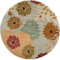 Safavieh Metro Collection MET990A Handmade Multicolored Wool Round Area Rug (6 Diameter)