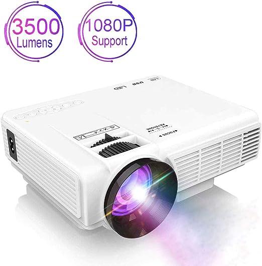 Proyector 3500 Lumen Mini proyector 50000 Horas Video proyector ...