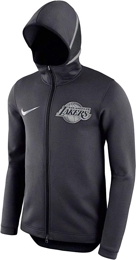 Amazon Com La Lakers 2018 Men S Showtime Therma Flex Performance Full Zip Jacket Anthracite Small Clothing