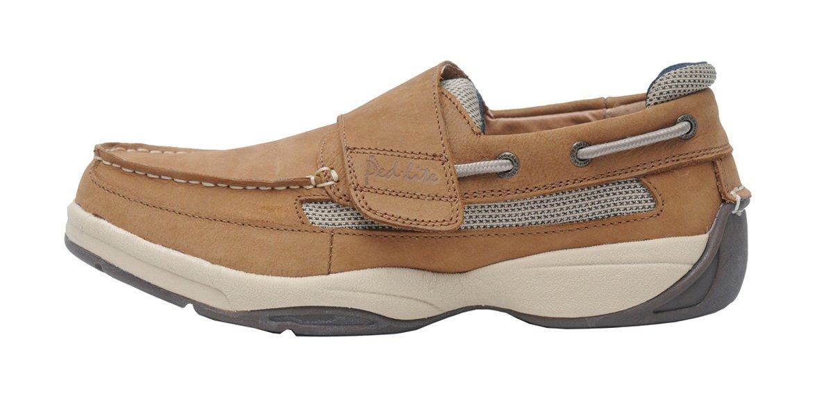 Ped-Lite Men's Neuropathy Boat Shoe - Oliver 8.5 D(M) US Tan