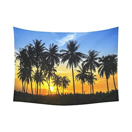 Island Tapestry Palm Coconut Trees Beach Print Wall Hanging Decor
