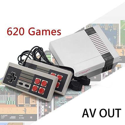 Lieja Built In 620 Games AV out Consola de Videojuegos HDMI Consolas de Mano Retro con Controlador Dual para niños
