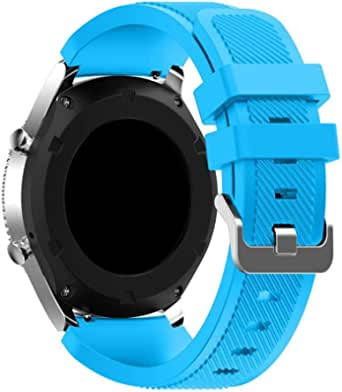 Sport Silicone Bands Straps Bracelet Watch Size 22mm for Huawei Watch GT1, Huawei Watch GT2 46mm, Galaxy S4 46mm, Samsung Active2 44mm, Honor Magic2 46mm