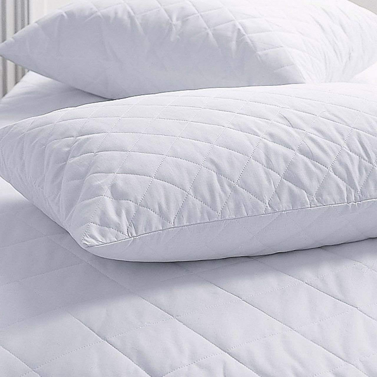 Poly Cotton Quilted Pillow Protectors