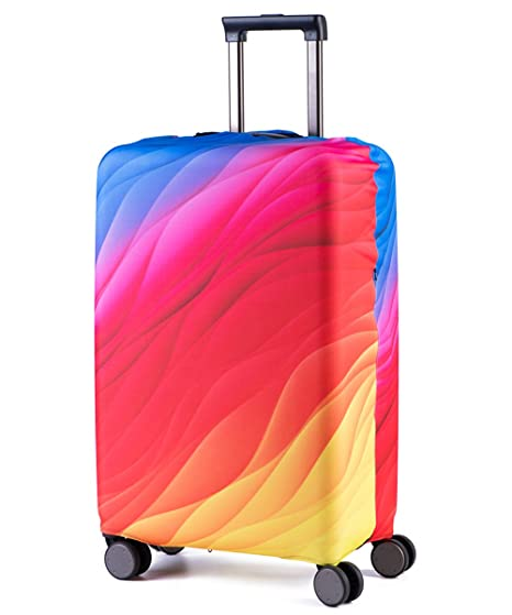c724d0bc9f7a Luggage Cover Suitcase Protector Bag- HoJax Spandex Travel Luggage Cover  Fit 19-21 Inch Luggage (Small, Multicoloured)