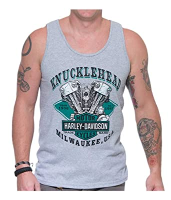 61e41a1bd7f060 Amazon.com  Harley-Davidson Men s Diamond Knucklehead Sleeveless ...