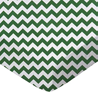 product image for SheetWorld Fitted Bassinet Sheet - Hunter Green Chevron Zigzag - Made In USA