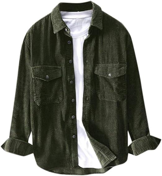 camisas de pana para hombre,ZODOF Invierno Manga larga Pana