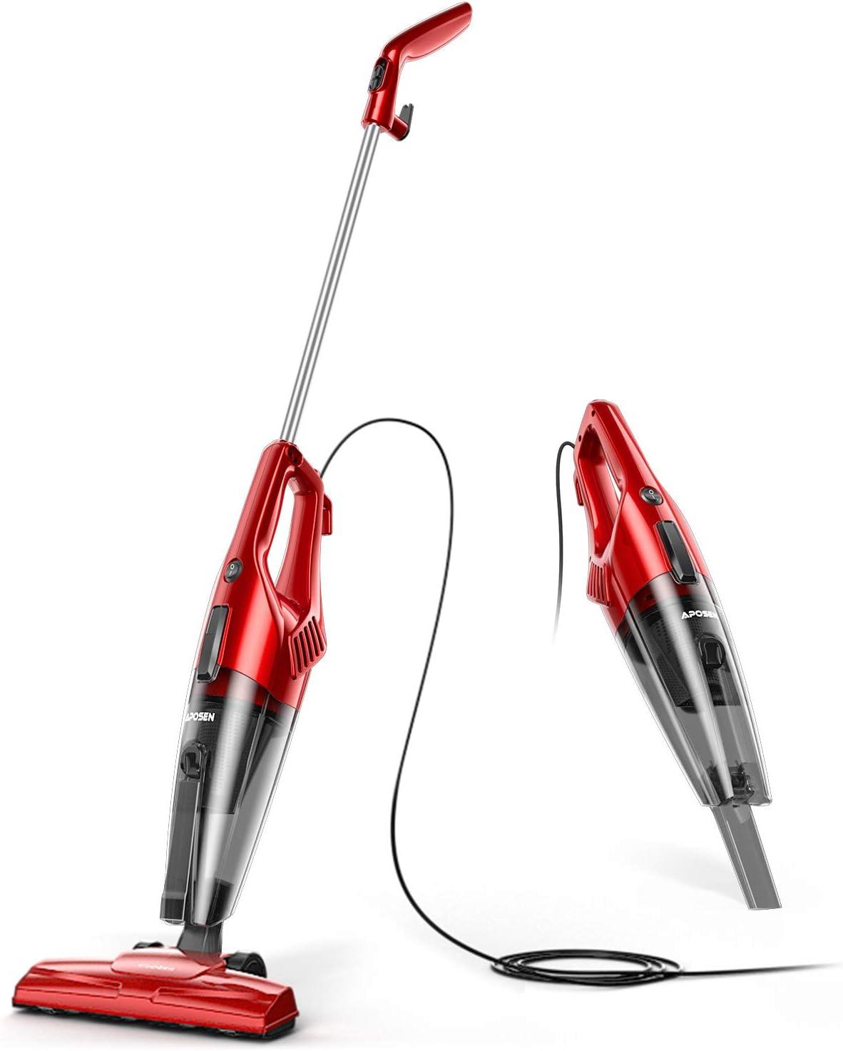 APOSEN Vacuum Cleaner 600W 15Kpa Lightweight Quiet Corded Stick Vacuum for Hard Floor Pet Hair ST600