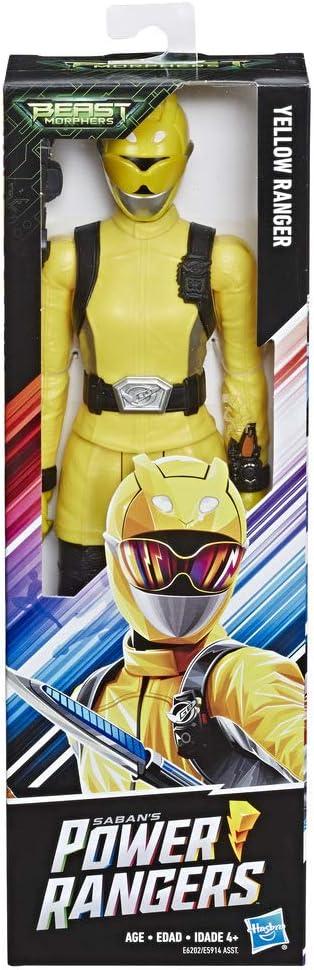 Power Rangers - Figura de 30cm Ranger Amarillo de Beast Morphers (Hasbro - E6202ES0)
