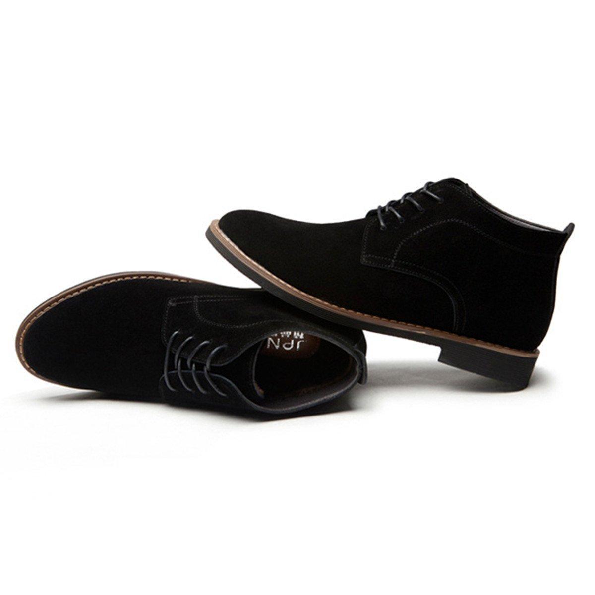 Botines de cuero para mujer, Gracosy Invierno Suede Zapatos Casual Desert Boots Mocasines Flat Lace up estilo británic Plano Zapatos Botines Calentar Botas ...