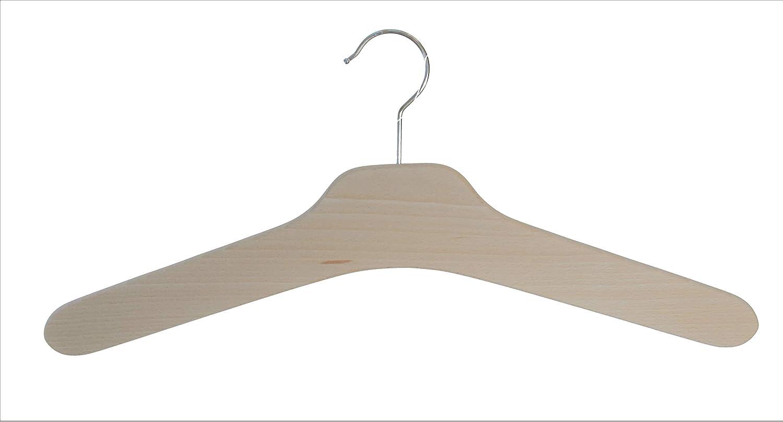 Kleiderbügel aus Holz, 5 St. Garderobenbügel aus Buchenholz, roh (unbehandelt) Kleiderbügel aus Holz Hagspiel