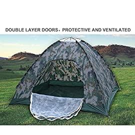 Waterproof 210T Polyester 2 Person 4 Season Dome Tent for Camping Hiking with Carry bag - Camo