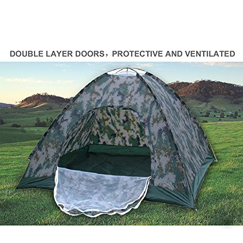 Waterproof 210T Polyester 2 Person 4 Season Dome Tent for Camping Hiking with Carry bag – Camo
