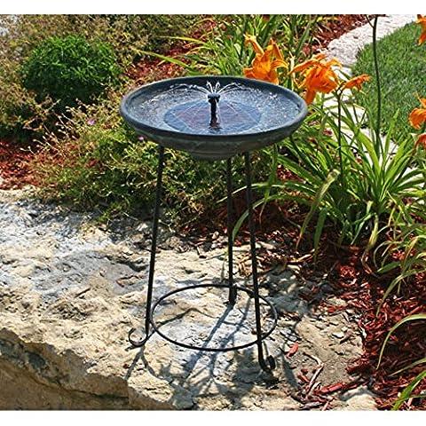 Smart Solar Somerset Verdigris Solar Bird Bath Fountain - Smart Solar Fountain