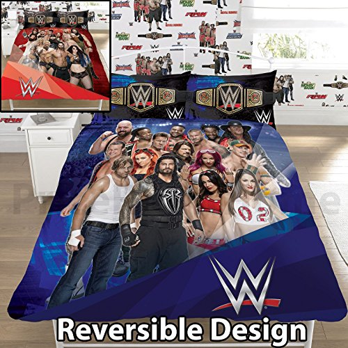 WWE Face V Heel UK Double/US Full Duvet Cover and Pillowcase Set by WWE