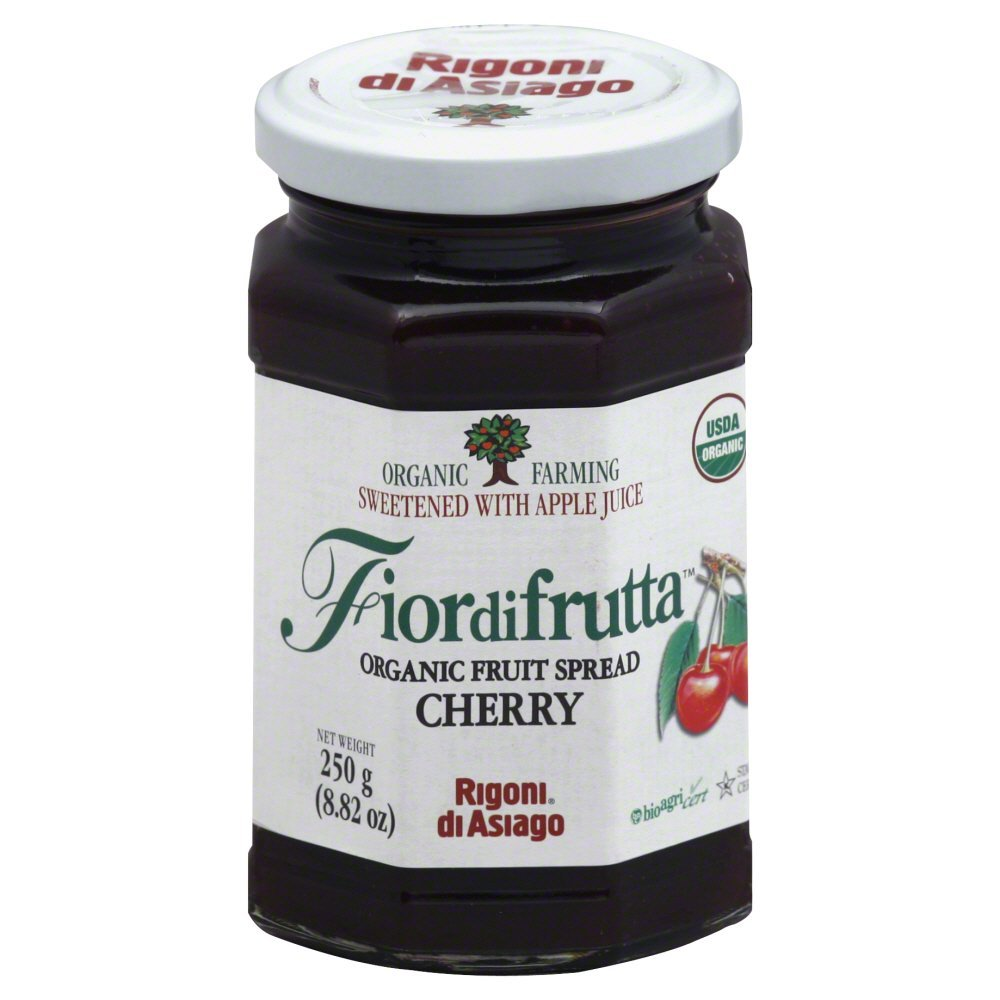 Rigoni Di Asiago Fiordifrutta Organic Fruit Spread, Cherry, 8.82 Ounce