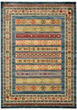Unique Loom Fars Collection Tribal Modern Casual Blue Area Rug (7' 0 x 10' 0)