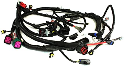 apdty 139970 diesel 6.0l powerstroke main engine wire harness pigtail  conector fits select 05-07 ford trucks (see description for details;  replaces 5c3z12b637ba, 5c3z-12b637-ba): automotive - amazon.com  amazon.com