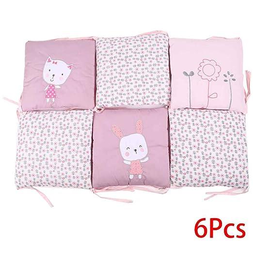 Chilie - 6 almohadillas para parachoques de bebé, algodón ...