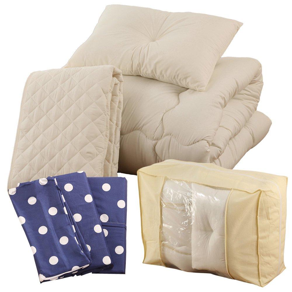 すぐに使える 高品質 ベッド用9点セット ダブル ドット柄 マザリンブルー A093-D014DB007NV B01M3XIE5B ダブルサイズ|ドット柄マザリンブルー ドット柄マザリンブルー ダブルサイズ