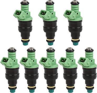 Set of 8 MOSTPLUS 42lb Fuel Injectors fits GM LT1 LS1 LS6 Mustang SOHC DOHC V8 440cc EV1