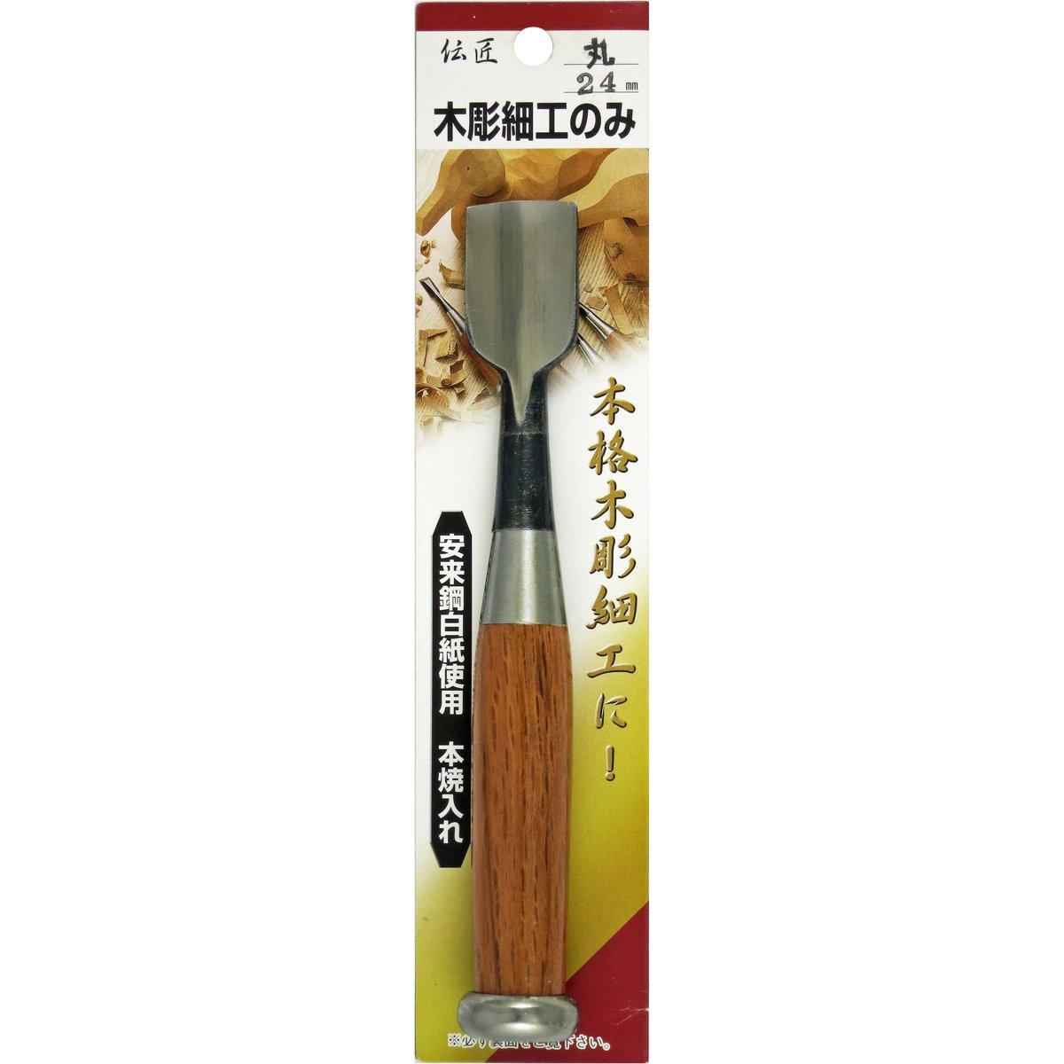 Ciseau japonais tremp/é rond 24 mm