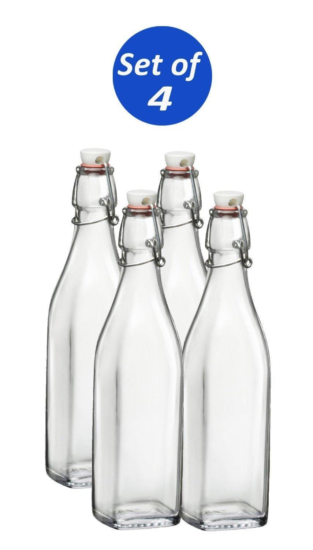 Bormioli Rocco Swing Bottle, 17-Ounce (Set of 4) by Bormioli Rocco