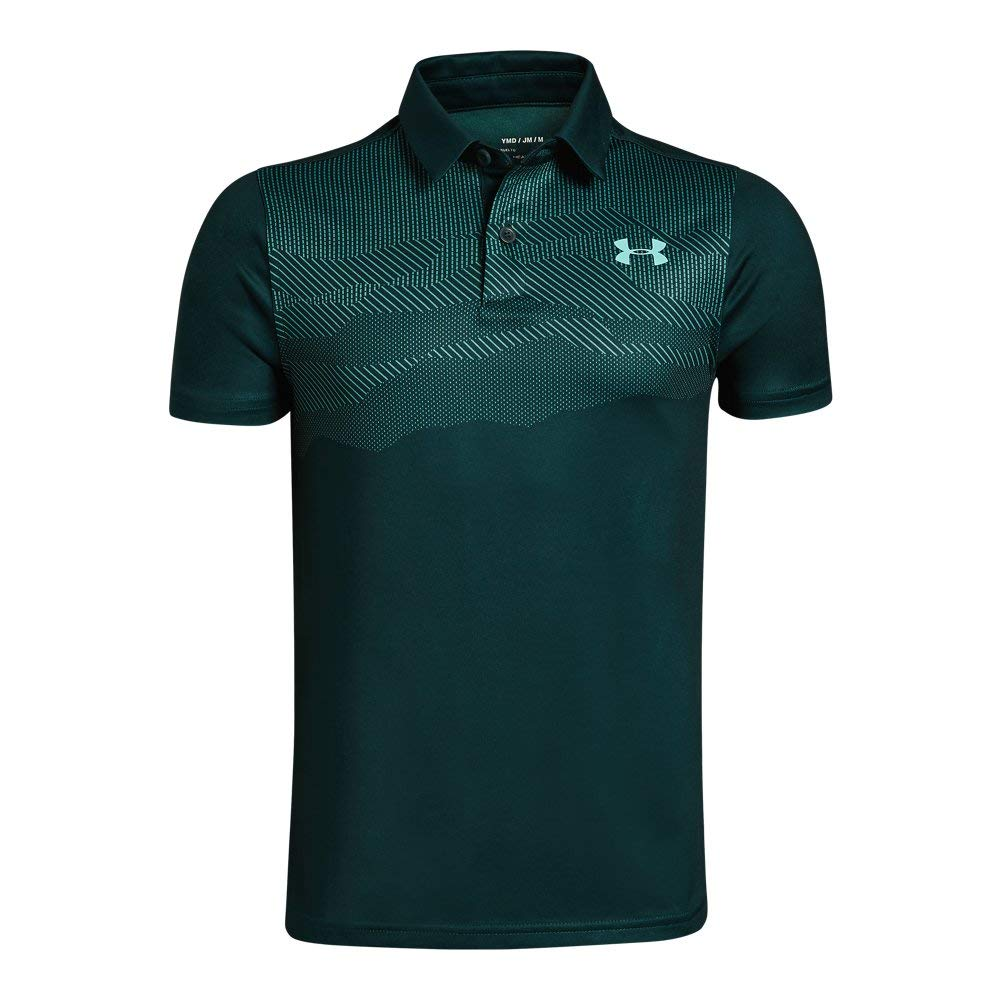 Under Armour Tour Tips Engineered Polo, Batik//Neo Turquoise, Youth Small by Under Armour