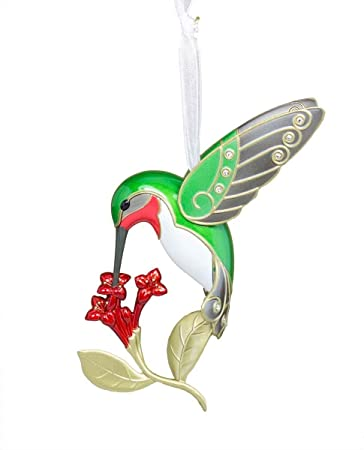 Amazon.com: Hallmark 2016 Christmas Ornaments Dazzling Hummingbird ...