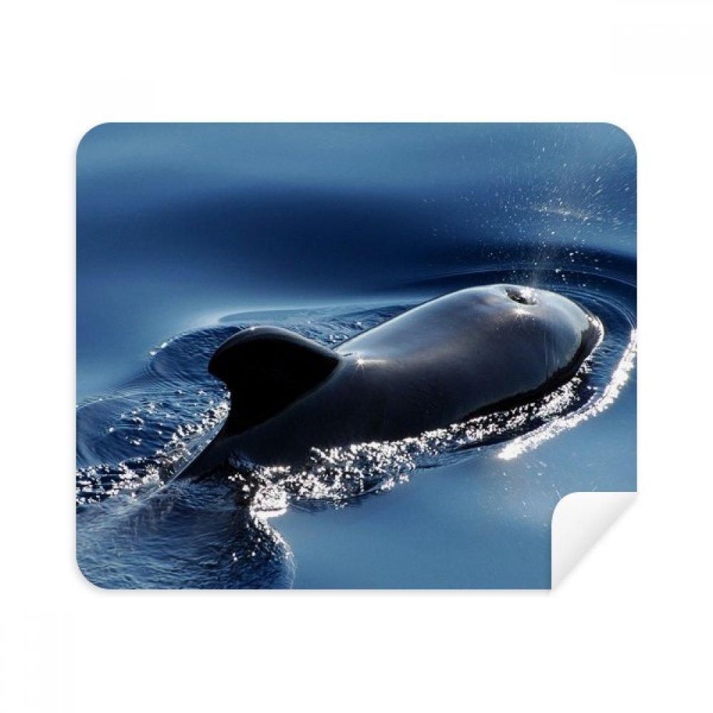Ocean Water Sea Whale Science Nature画像電話画面クリーナーメガネクリーニングクロス2pcsスエードファブリック   B07CCMG3S5