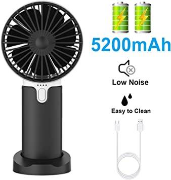 EasyULT Mini Ventilador de Mano USB, con 5200mAh Batería ...