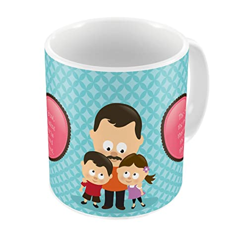 Indigifts Papa Gift Anniversary Father Is My Best Friend Quote Children Love Blue Coffee Mug