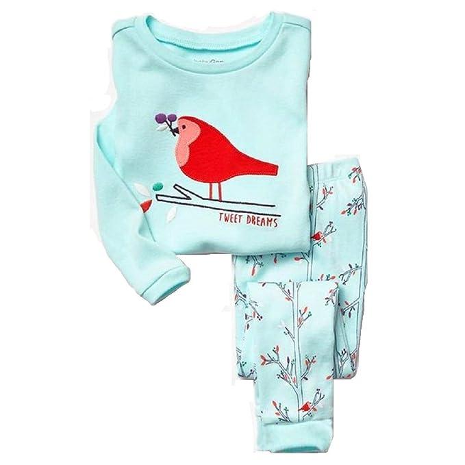 Amazon.com: hooyi pijamas de niña de bebé de algodón Niños ...